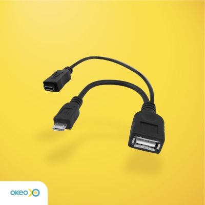 KABEL OTG MICRO USB with POWER PORT ADAPTER
